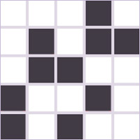 Memory games grid of black squares