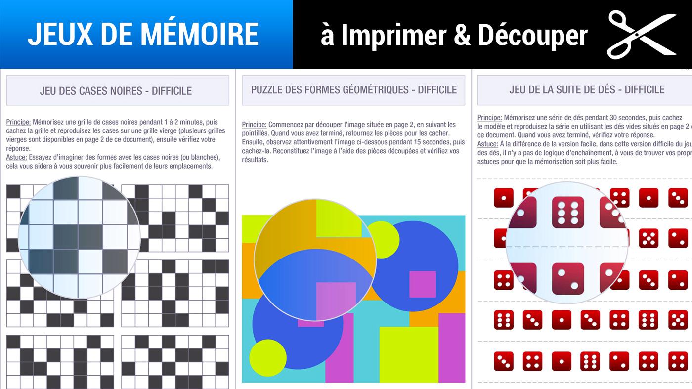 Jeux De Memoire A Imprimer Gratuits Memozor