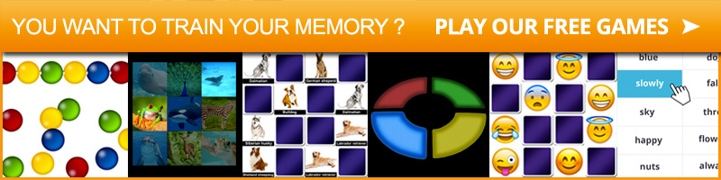 You want to train your memory? play our free memory games on memozor!!!