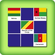 Matching game for adults - national flags III - online and free