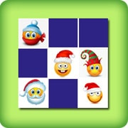 Matching game for adults - Christmas emoji - online and free