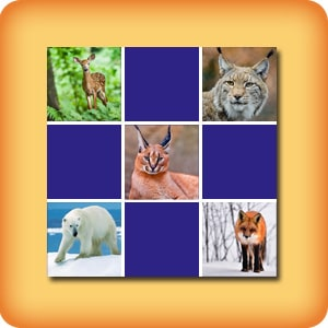 Memory game for seniors - Animals - online and free