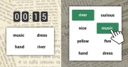 Words memory game - grid of words - mix of themes