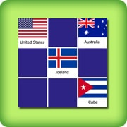 Matching game for adults - national flags II - online and free