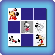 Memory game for kids - Mickey Mouse - online and free