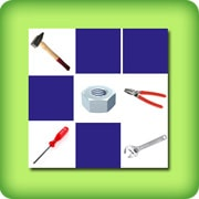 Matching game for adults - DIY tools - online and free