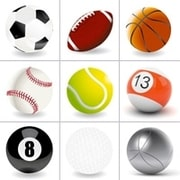 Grid of pictures - balls