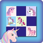 Memory game for kids - unicorns - online and free