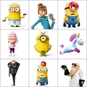 Grid of pictures for kids - The minions