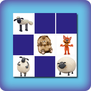 Memory game for toddlers - shaun the sheep