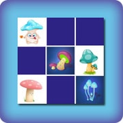 Memory game for kids - mushrooms