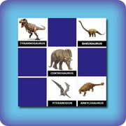 Memory game for kids - dinosaurs