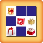Matching game - Christmas present - online and free