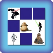 Characters from Star Wars memory game