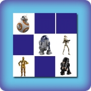 Droids and robots Star Wars memory game