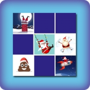Matching game for kids - Funny Christmas pictures - online and free
