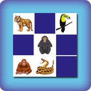 Matching game for kids - jungle animals - online and free