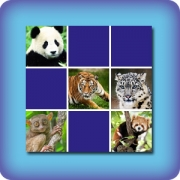 Memory game for kids - Asian animals - online and free