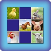 memory game for kids - farm animals