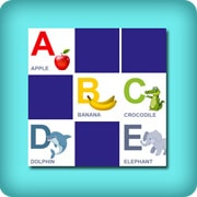 Memory game for toddlers - Learn the alphabet - online and free