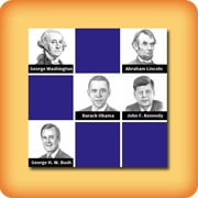 Matching game for seniors - Presidents of the US - online and free