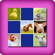Big memory game  - farm animals