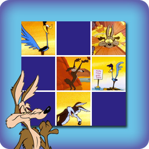 Memory game for kids - Wile E. Coyote and the Road Runner - online and free