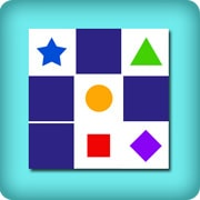 Memory game geometric shapes for baby
