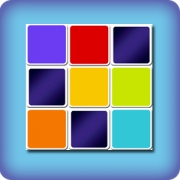 Memory game for kids - colored cards
