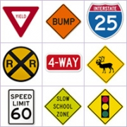 Grid of pictures - Road signs