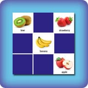 Memory game for kids - fruits