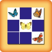 Matching game for seniors - Butterflies - online and free