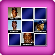 Big memory match game  - greatest baseball players of all time