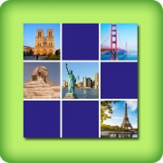 Memory game for adults - the most beautiful monuments - online and free