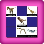 Big memory game for easy learning of dinosaurs name