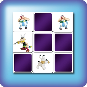 Memory game for kids - Asterix and Obelix - online and free