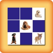 Matching game seniors - Dogs - online and free