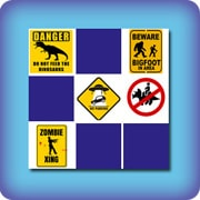 Matching game for kids - Funny road signs - online and free
