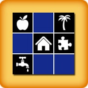 Memory game for seniors black and white