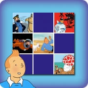 Memory game for kids - The Adventures of Tintin - online and free