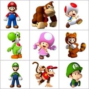Grid of pictures for kids - Mario kart