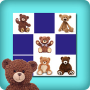 Memory game for toddlers - teddy bears