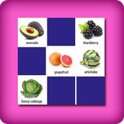 Giant memory game - fruits and vegetables