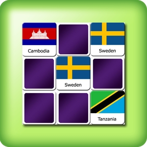 Memory game for adults - countries flags II - online and free
