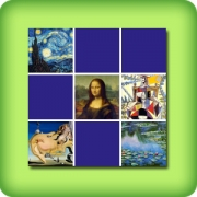 Memory game for adults - Paintings from famous painters - online and free