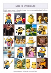 photo about Minion Printable Cutouts known as Absolutely free printable memory game titles