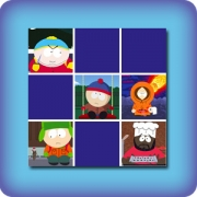 Memory game for kids - South Park - online and free