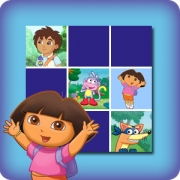 Memory game for kids - Dora the Explorer - online and free
