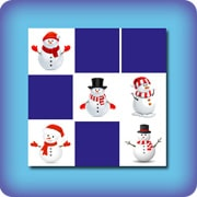 Memory game for kids - snowman
