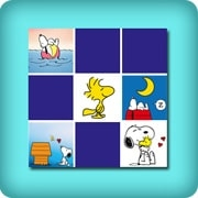 Memory game for toddlers - Snoopy - online and free
